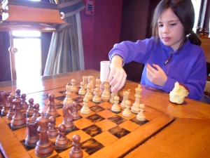isa playing chess