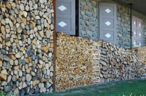 wood stacked
