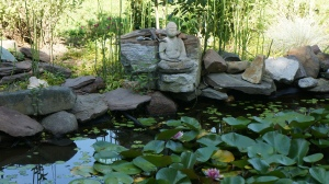 buddha at pond