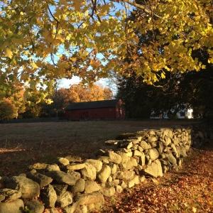 fall stone wall